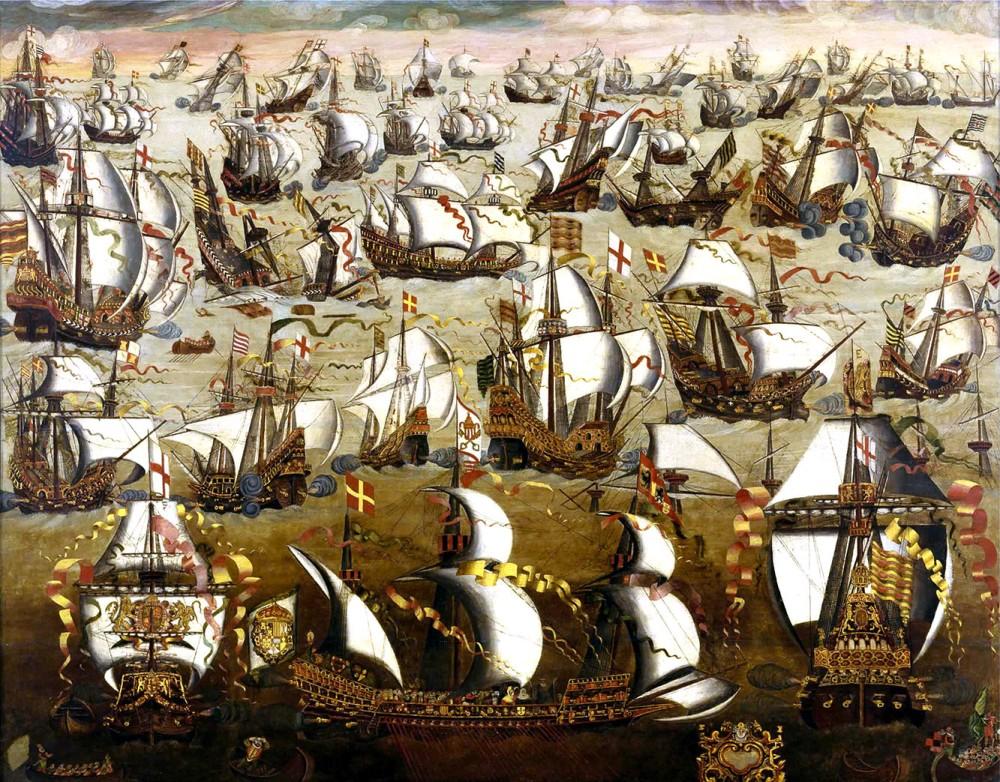 Anónimo. Armada invencible. Siglo XVI. Museos Reales. Greenwich.