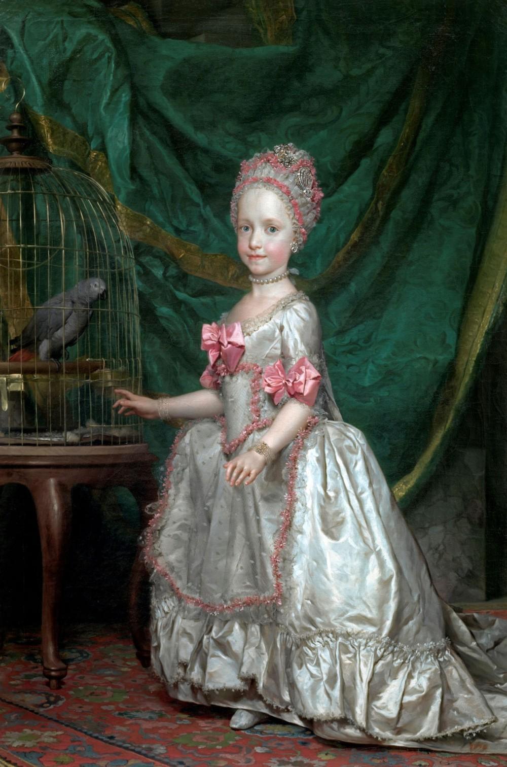 Anton Rafael Mengs. La archiduquesa María Teresa de Austria. 1771. Museo Nacional del Prado. Madrid.