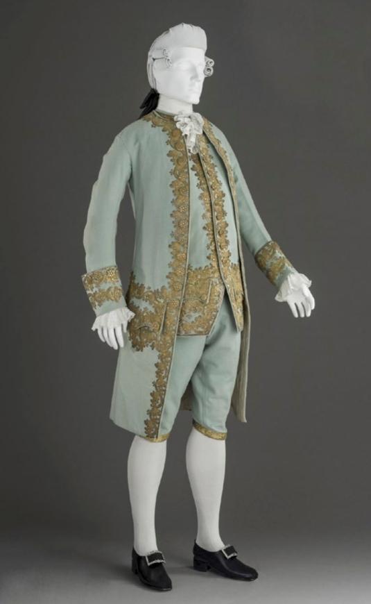 Traje masculino de corte. Hacia 1760. LACMA.