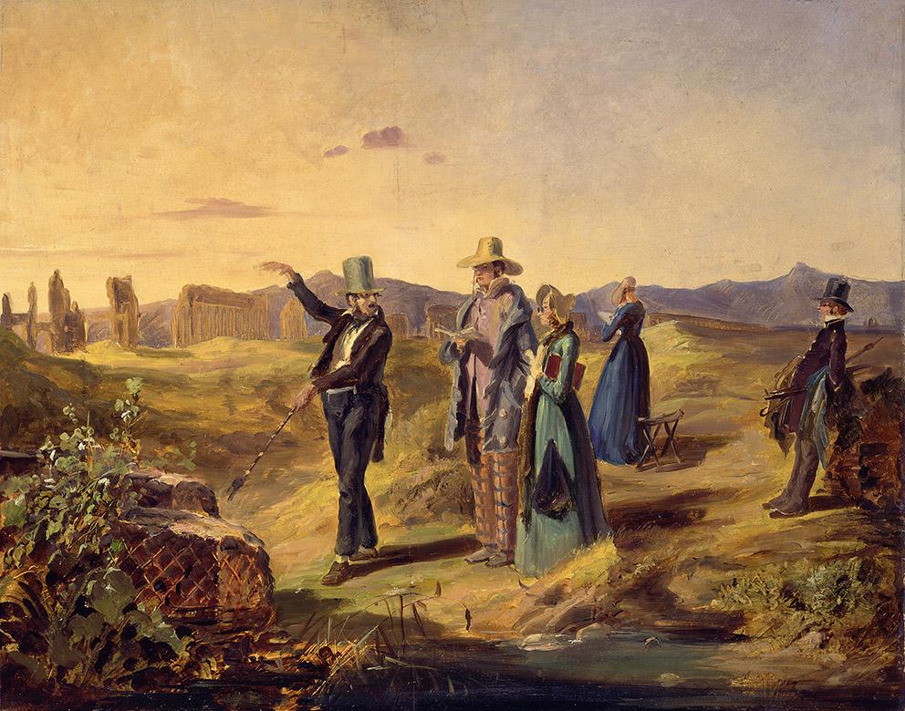 Carl Spitzweg. Inglés en la Campagna. Hacia 1835. Alte Nationalgalerie. Berlin.