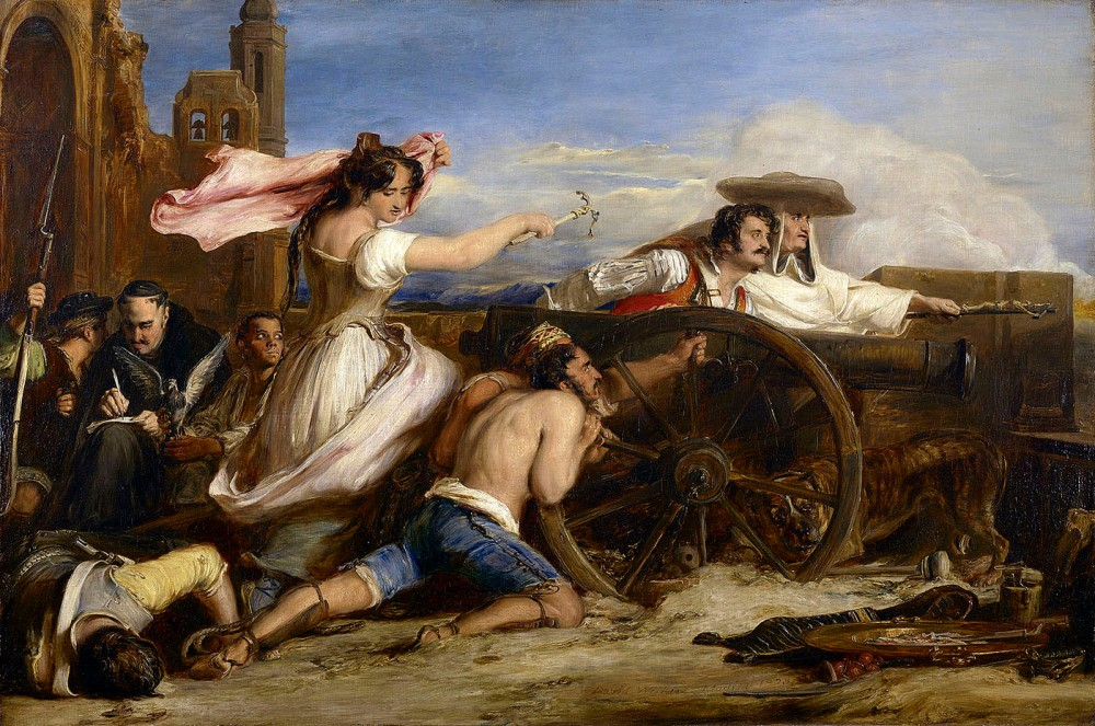 David Wilkie. La defensa de Zaragoza. 1828. Castillo de Windsor.