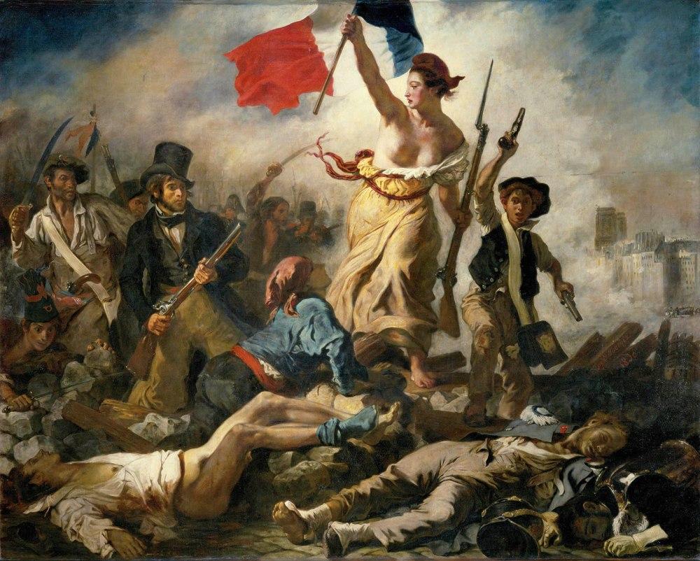 Eugène Delacroix. La Libertad guiando al pueblo.1830. Museo del Louvre. París.