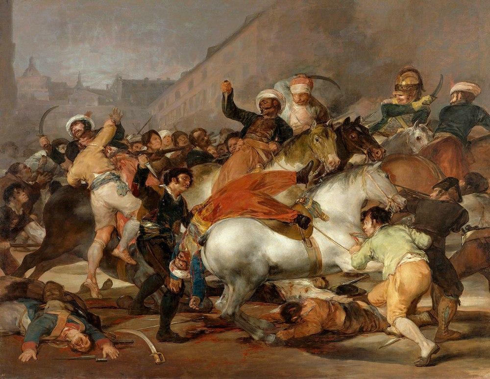 """Francisco de Goya. El 2 de mayo de 1808 en Madrid o """"La lucha con los mamelucos."""" 1814. Museo Nacional del Prado. Madrid."""