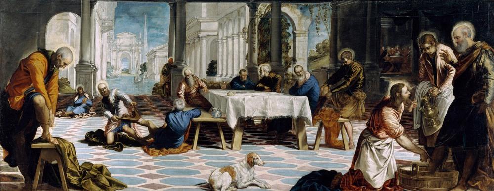 Jacopo Tintoretto. El Lavatorio. 1548-1549. Museo Nacional del Prado. Madrid.