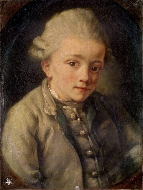 Jean-Baptiste Greuze. Mozart. 1763-1764. Colección de la Universidad de Yale. New Heaven. Connecticut.