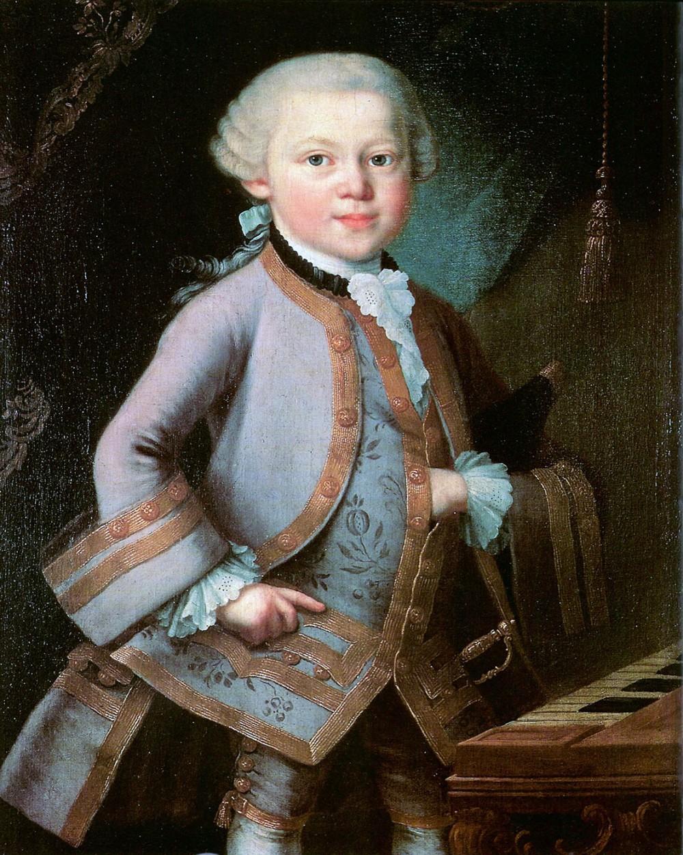 Atribuido a Pietro Antonio Leoni. Mozart niño. 1783. Mozarteum. Salzburgo.