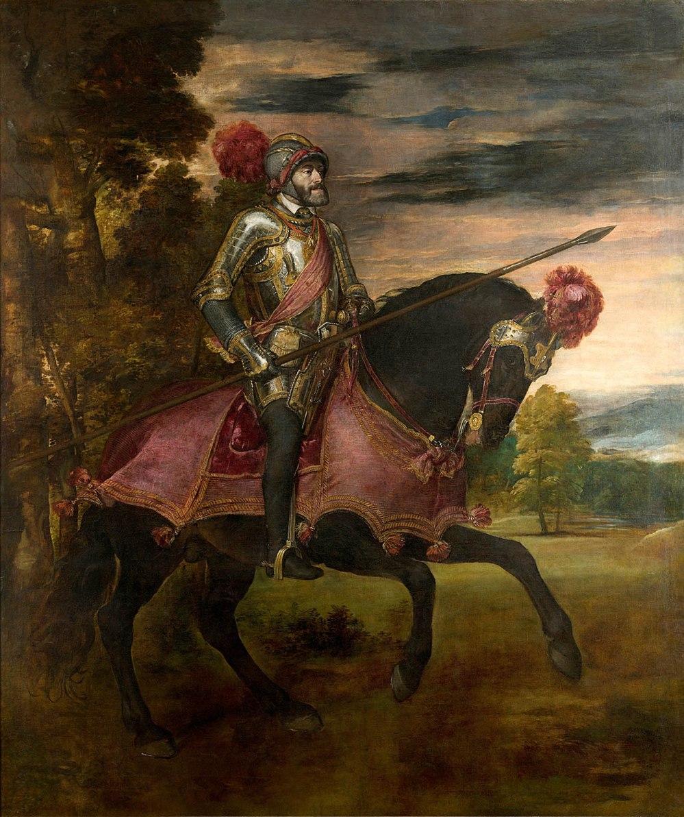 Tiziano Vecellio. Carlos V en la Batalla de Mühlberg. 1548. Museo Nacional del Prado. Madrid.