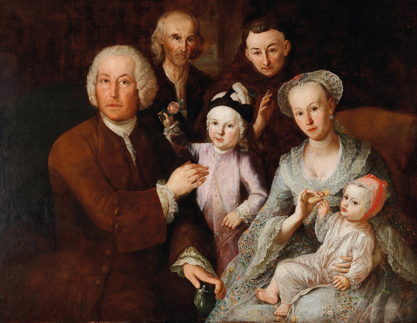 Anónimo. Retrato familiar.Escuela alemana. Siglo XVIII. Colección particular.