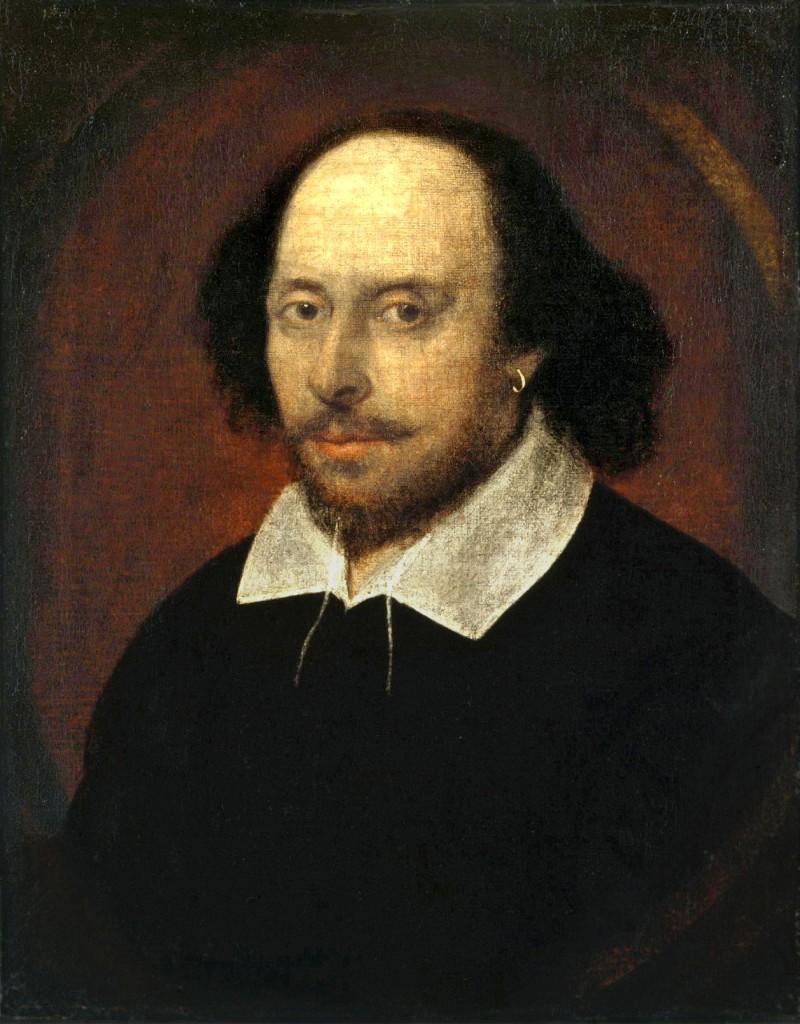 Atribuido a John Taylor. Retrato Chandos.Shakespeare. Hacia 1610. National Portrait Gallery. Londres.