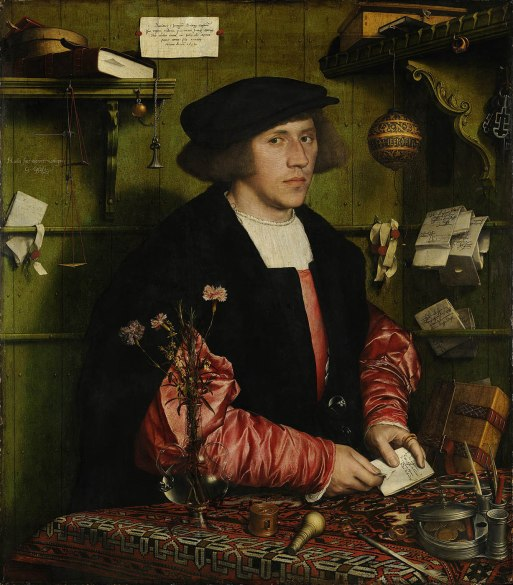 Hans Holbein el Joven. Retrato del mercader Gsze. 1532. Gemäldegalerie. Berlín.