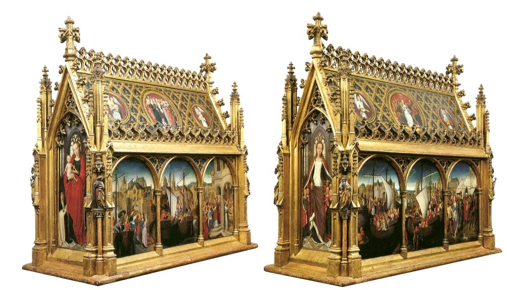 Hans Memling. Arqueta de Santa Úrsula. Hacia 1489. Museo Hans Memling. Brujas.