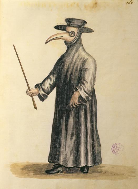 Jan van Grevenbroeck_Doctor veneciano durante la plaga. Hacia 1665.. Museo Correr. Venecia.