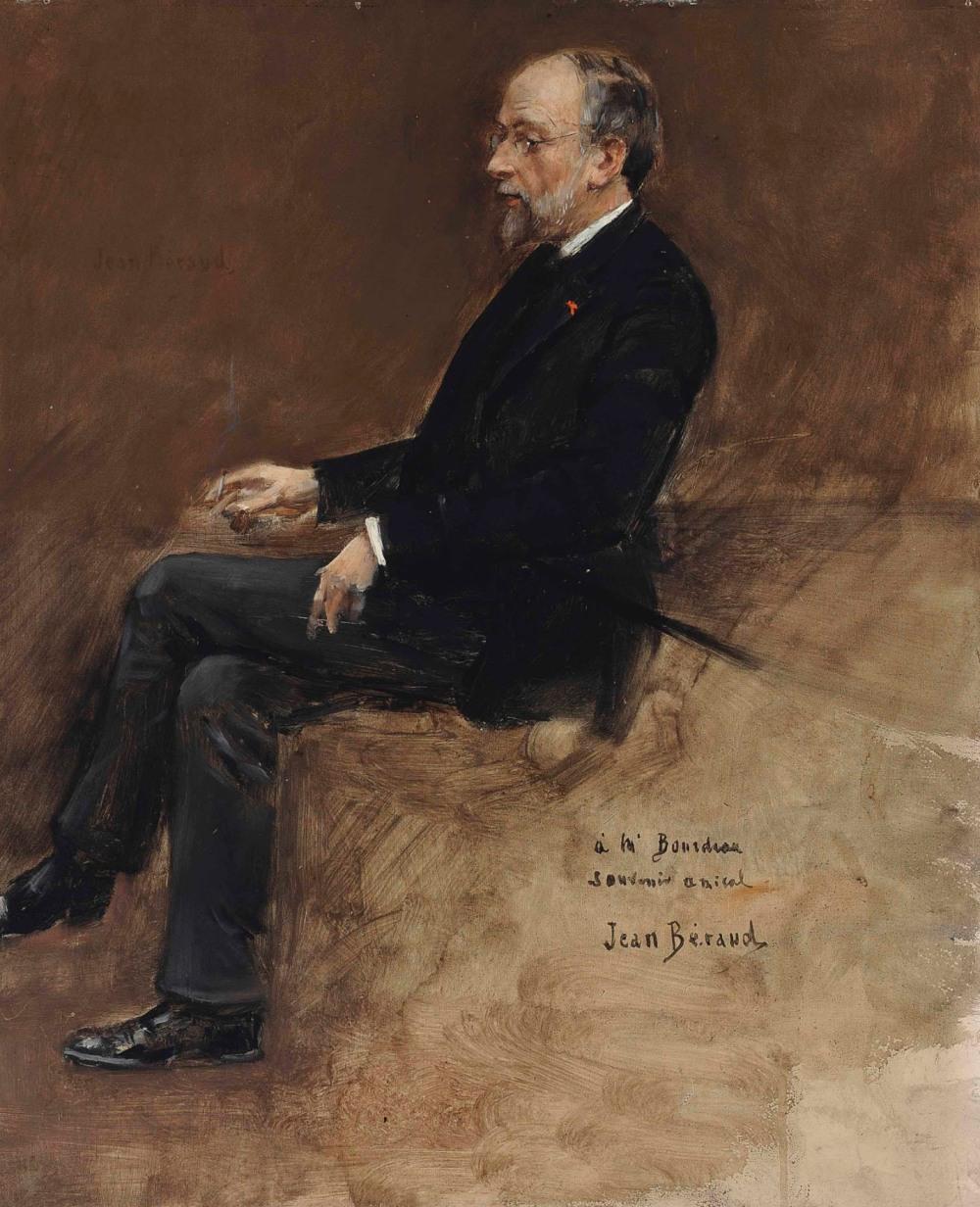 Jean Beraud. Retrato de Hippolyte Taine. 1889. Colección particular.