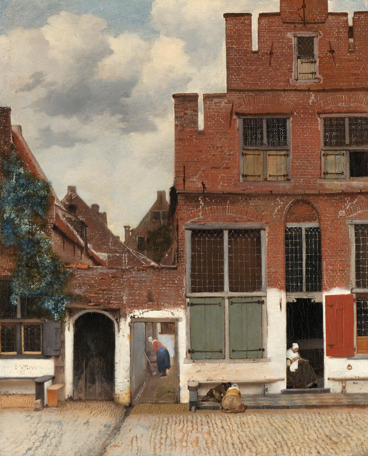 Johannes Vermeer. La callejuela. Hacia 1568. Rijksmuseum. Amsterdam.