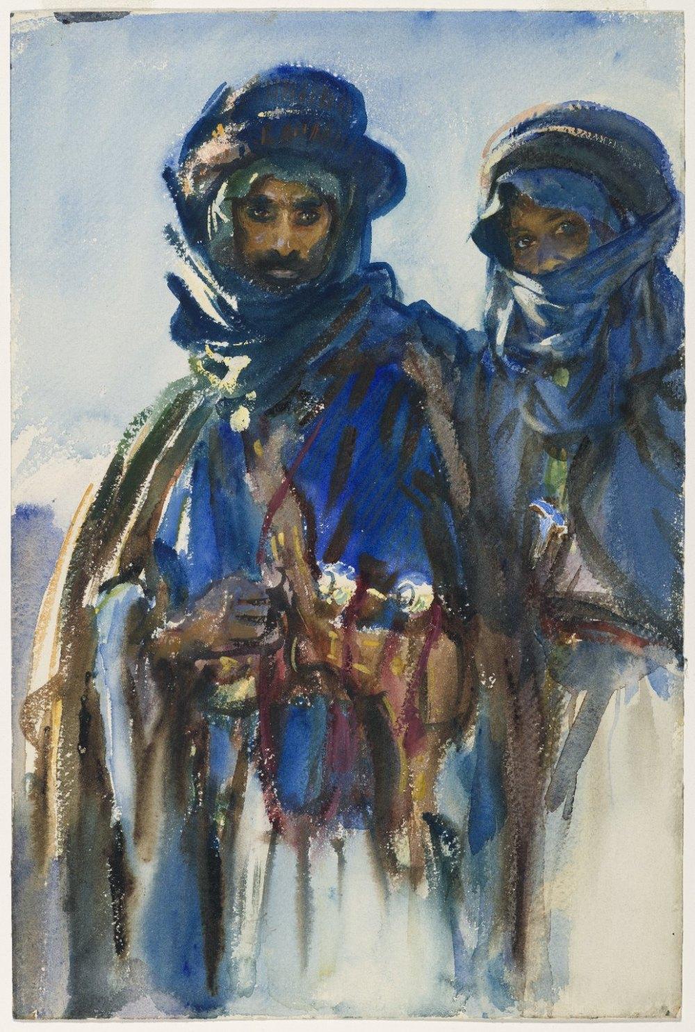 John Singer Sargent. Beduinos 1905-1906. Brooklyn Museum. Nueva York.
