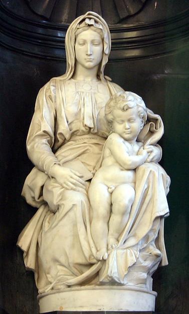 Miguel Ángel. Madonna de Brujas. 1504. Iglesia de Notre-Dame. Brujas.