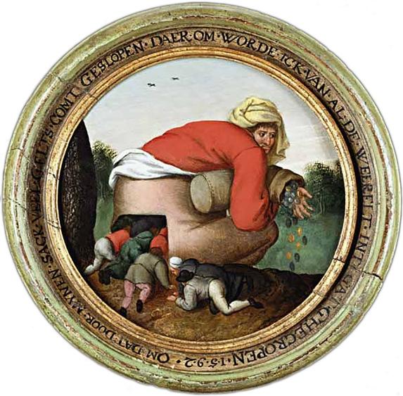 Pieter Brueghel el joven. Los aduladores.Hacia 1592. Colección particular.