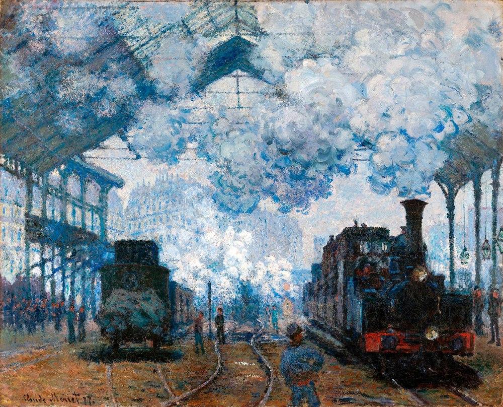Claude Monet. La estación de San Lázaro, llegada de un tren. 1877. Fogg Museum. Harvard Art Museums. Boston. EEUU.