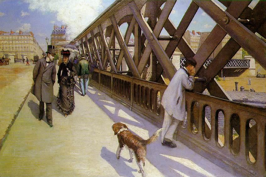 Gustave Caillebotte. El puente de Europa. Hacia 1876. Museo Petit Palace. Ginebra.