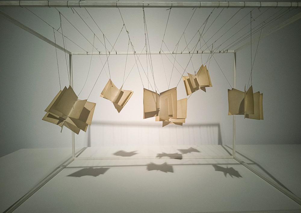 libros colgando