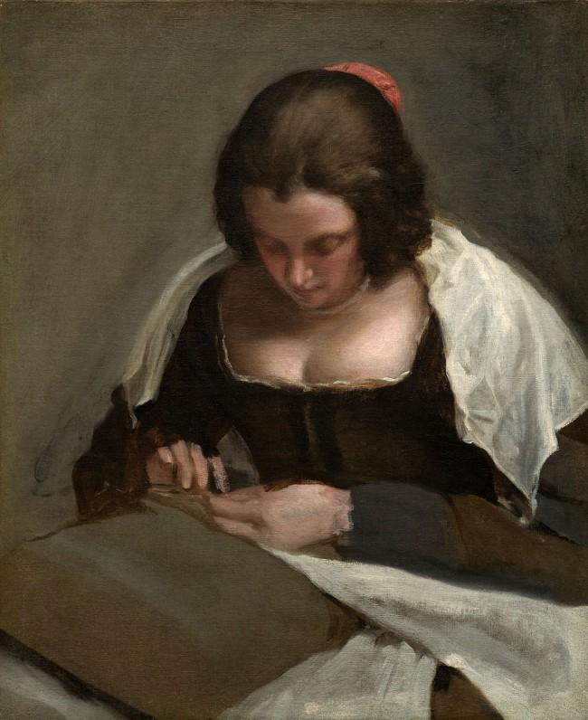 Diego Velázquez. La costurera. Hacia 1650. National Gallery of Art Washington.