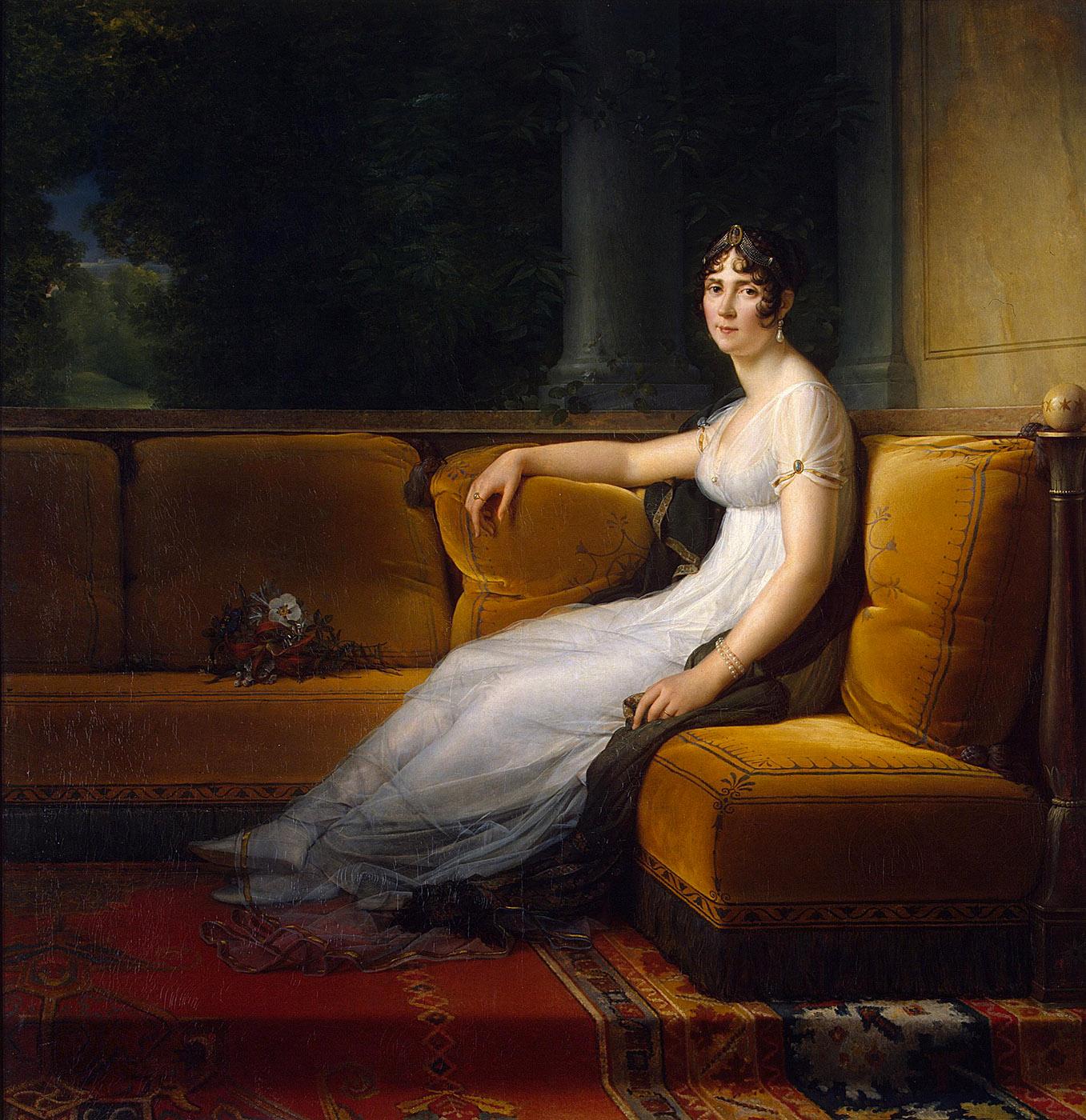 François Gérard. Retrato de Josefina de Beauharnais.1801. Museo del Hermitage. San Petersburgo.