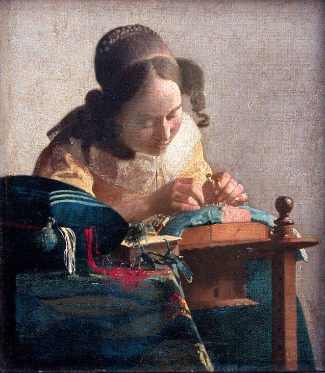 Johannes Vermeer. La encajera. 1669-1671. Museo del Louvre. París