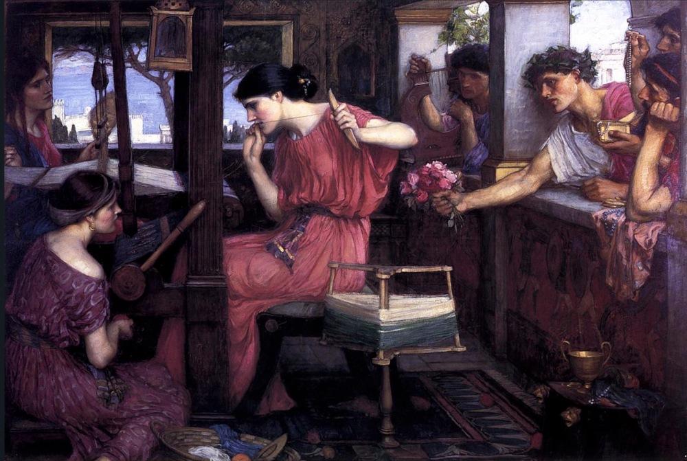John William Waterhouse. Penélope y los pretendientes. 1912. Aberdeen Art Gallery. Aberdeen.