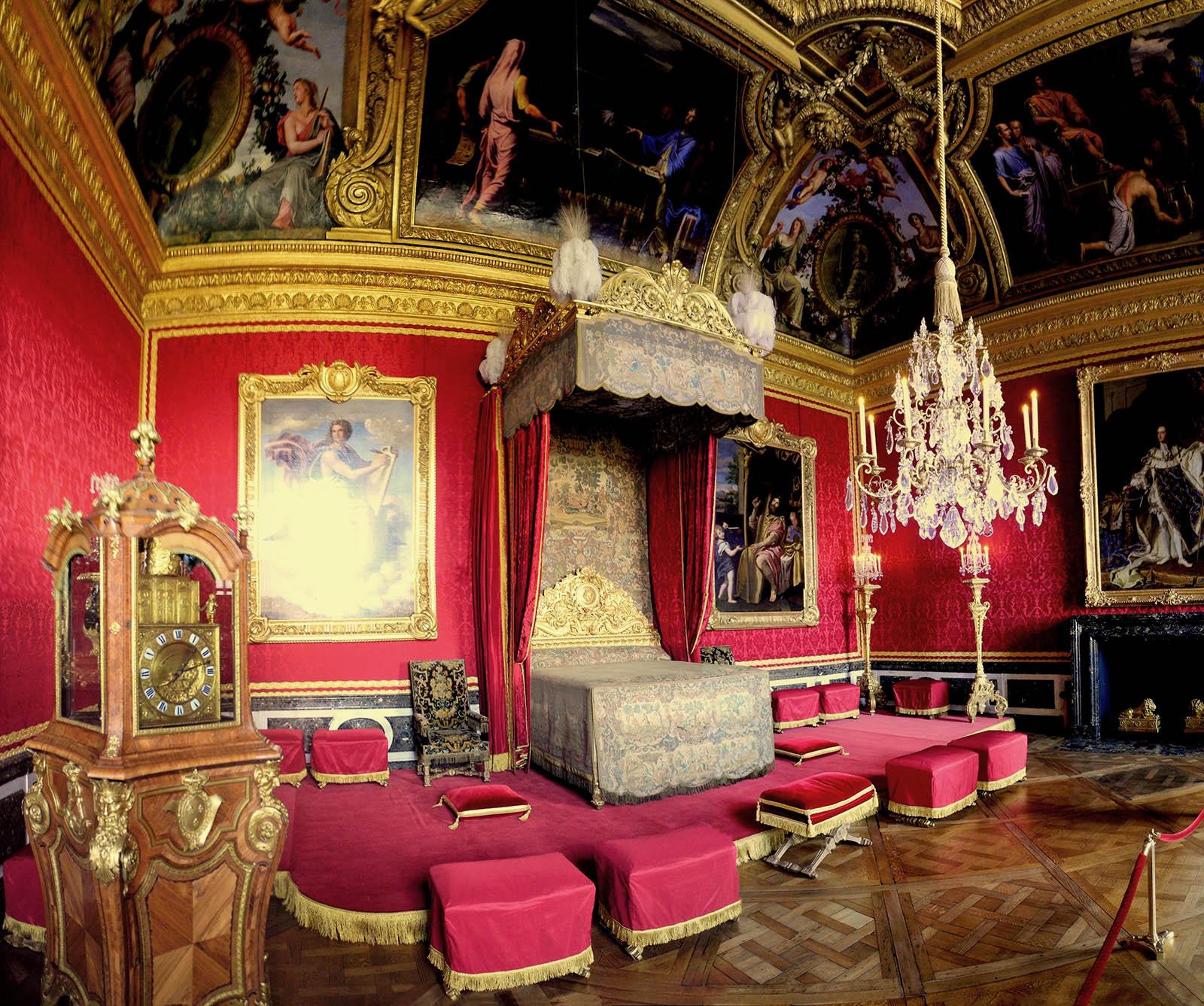 Cama de estado. Salón de Mercurio. Gran apartamento del rey. Palacio de Versalles. Versalles.