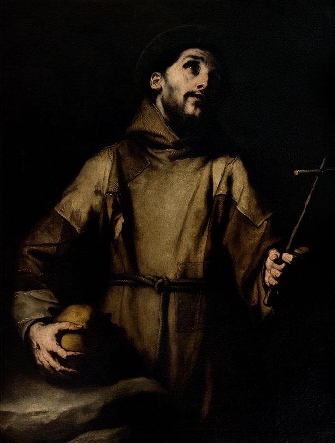Luca Giordano. San Francisco de Asís. Siglo XVII. Museo de Bellas Artes de la Habana.
