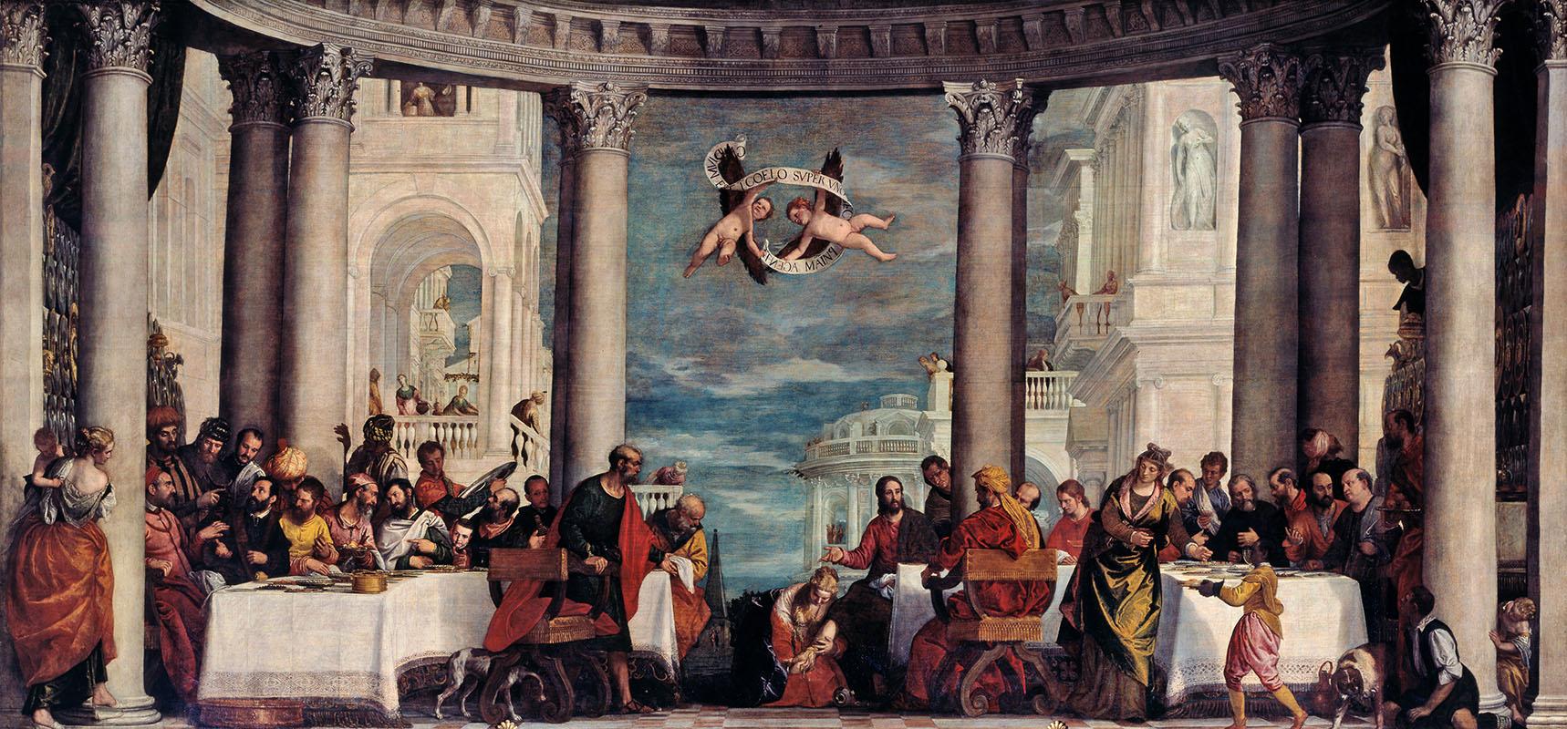 Paolo Veronese. La fiesta en casa de Simón el fariseo. Palacio de Versalles. Versalles.