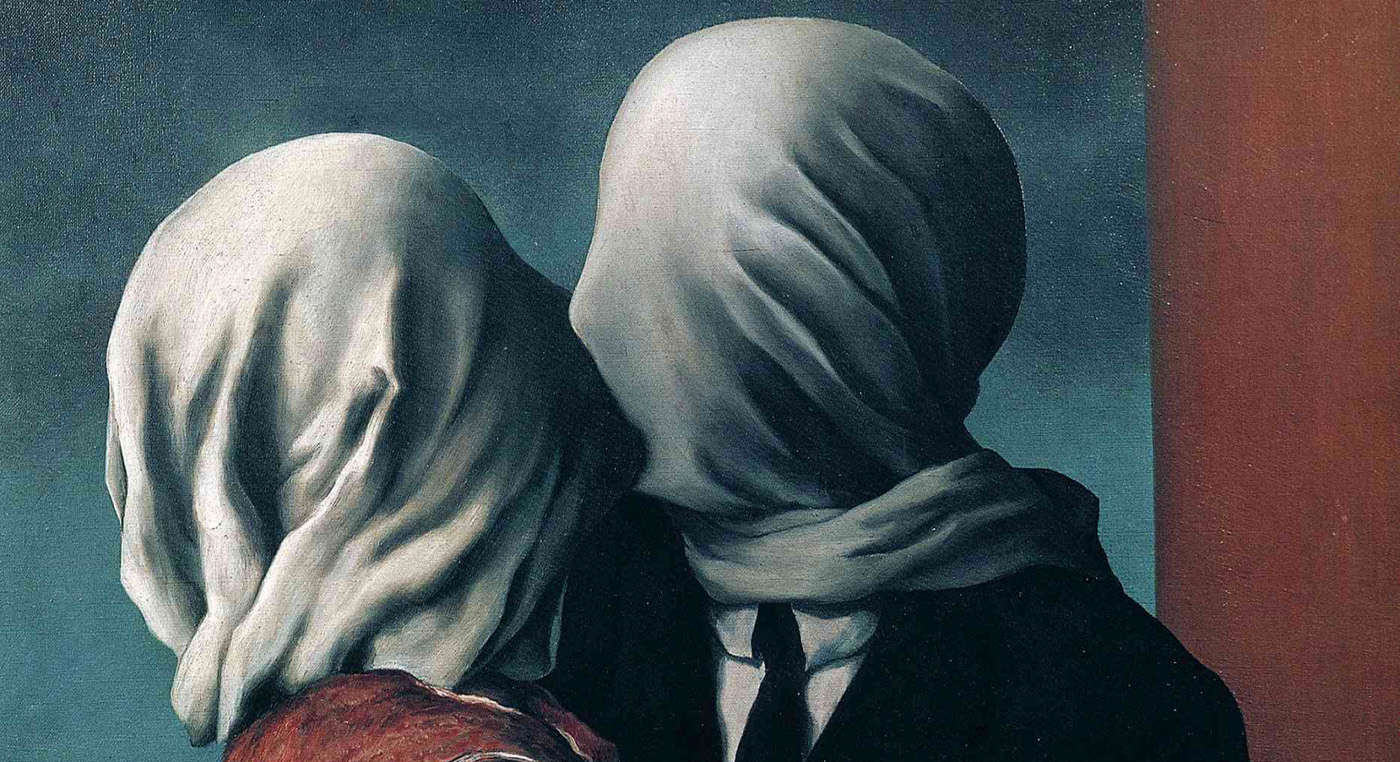 Rene Magritte. EL beso de los amantes. 1928. Colección Particular. Bruselas.