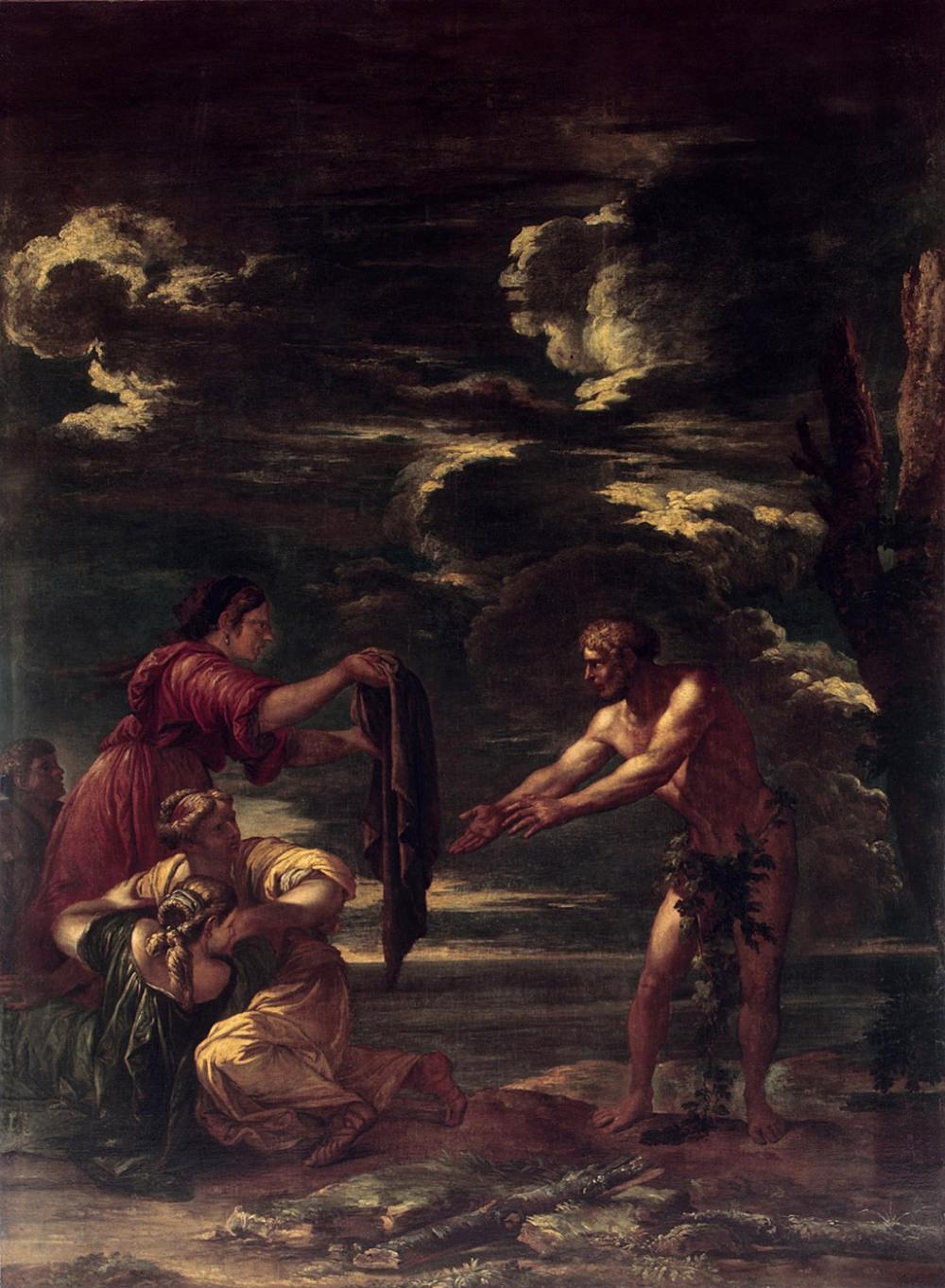 Salvator Rosa. Ulises y Nausícaa. 1663-1664. Museo del Hermitage. San Petersburgo.