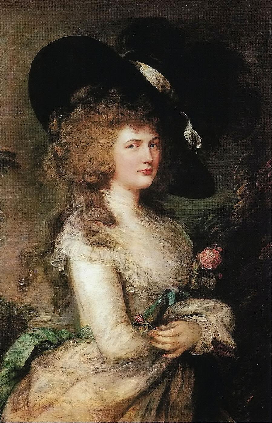 Thomas Gainsborough. Retrato de la duquesa de Devonshire. Hacia 1785-1787. Chatsworth House.