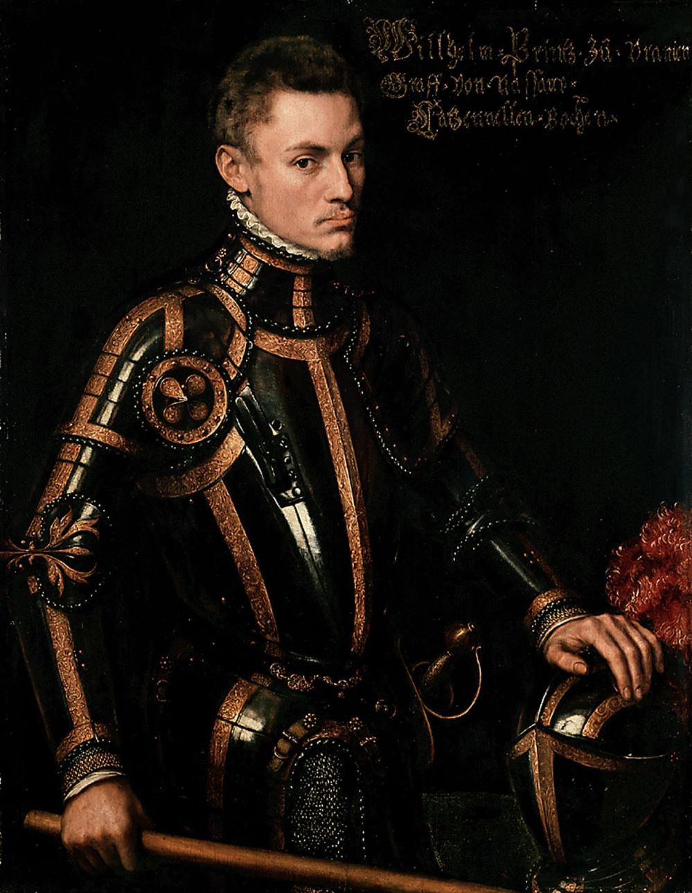 Antonio Moro. Guilleromo de Orange con armadura.1555. Museumslandschaft Hessen Kassel. Kassel.