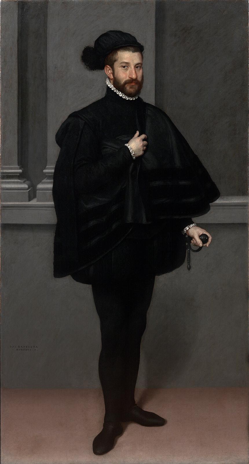 Giovanni Battista Moroni. El caballero negro.1567. Museo Poldi Pezzoli. Milán.