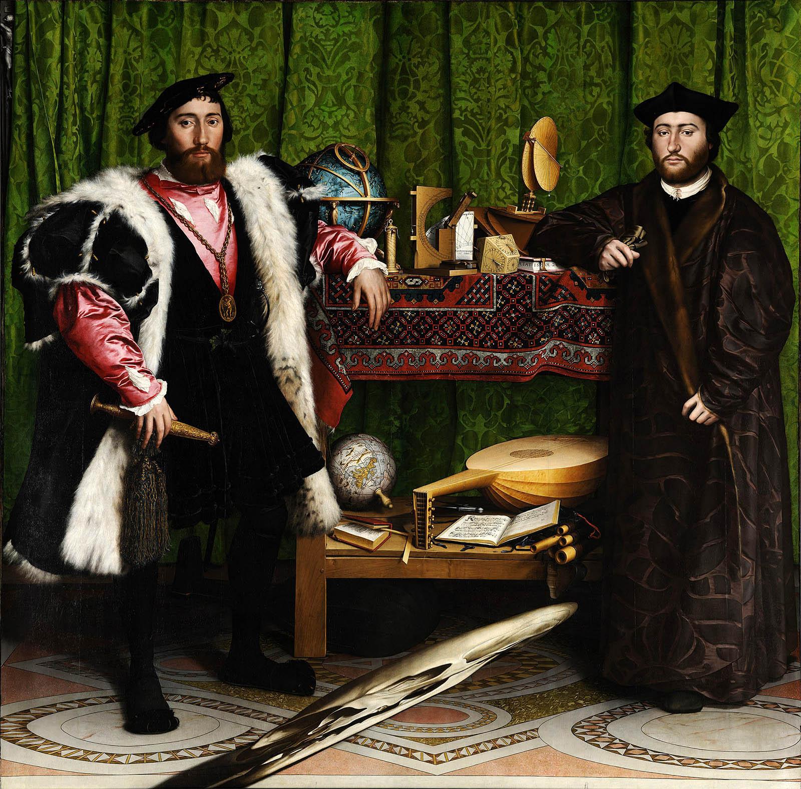 Hans Holbein el joven. Los Embajadores. 1533. National Gallery. Londres.