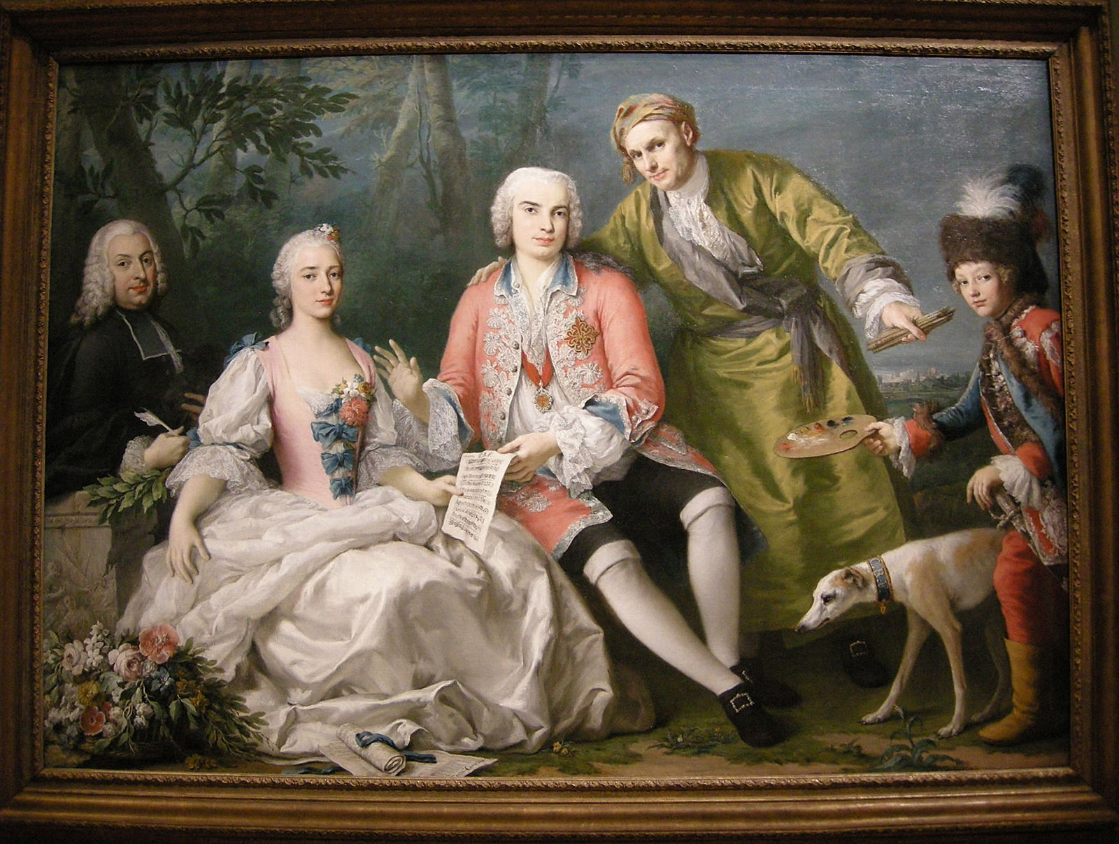Jacopo Amigoni. El cantante Farinelli con amigos. 1750-52. National Gallery of Victoria. Melbourne.