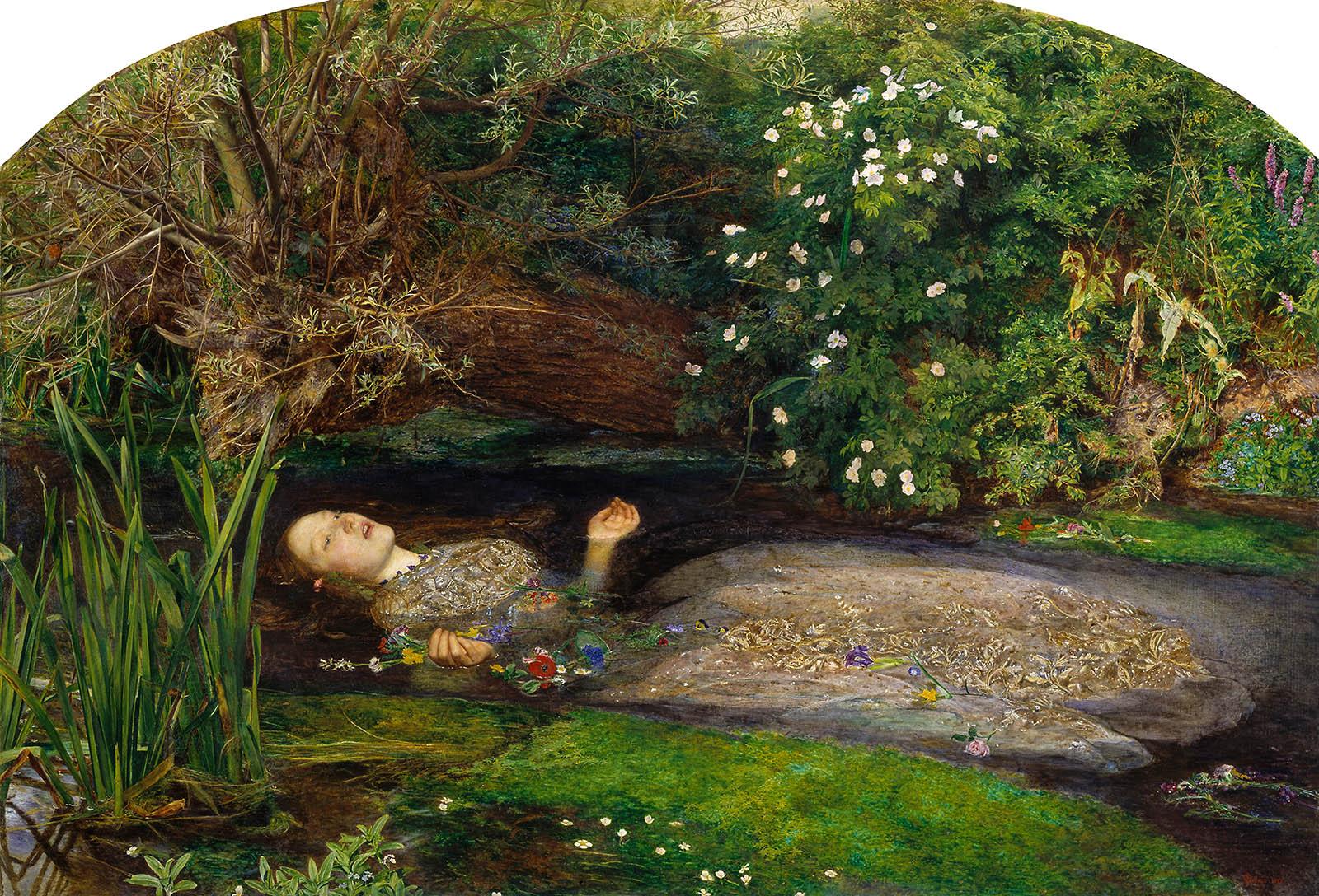 John Everett Millais. Ofelia.Hacia 1851. Tate Britain. Londres.