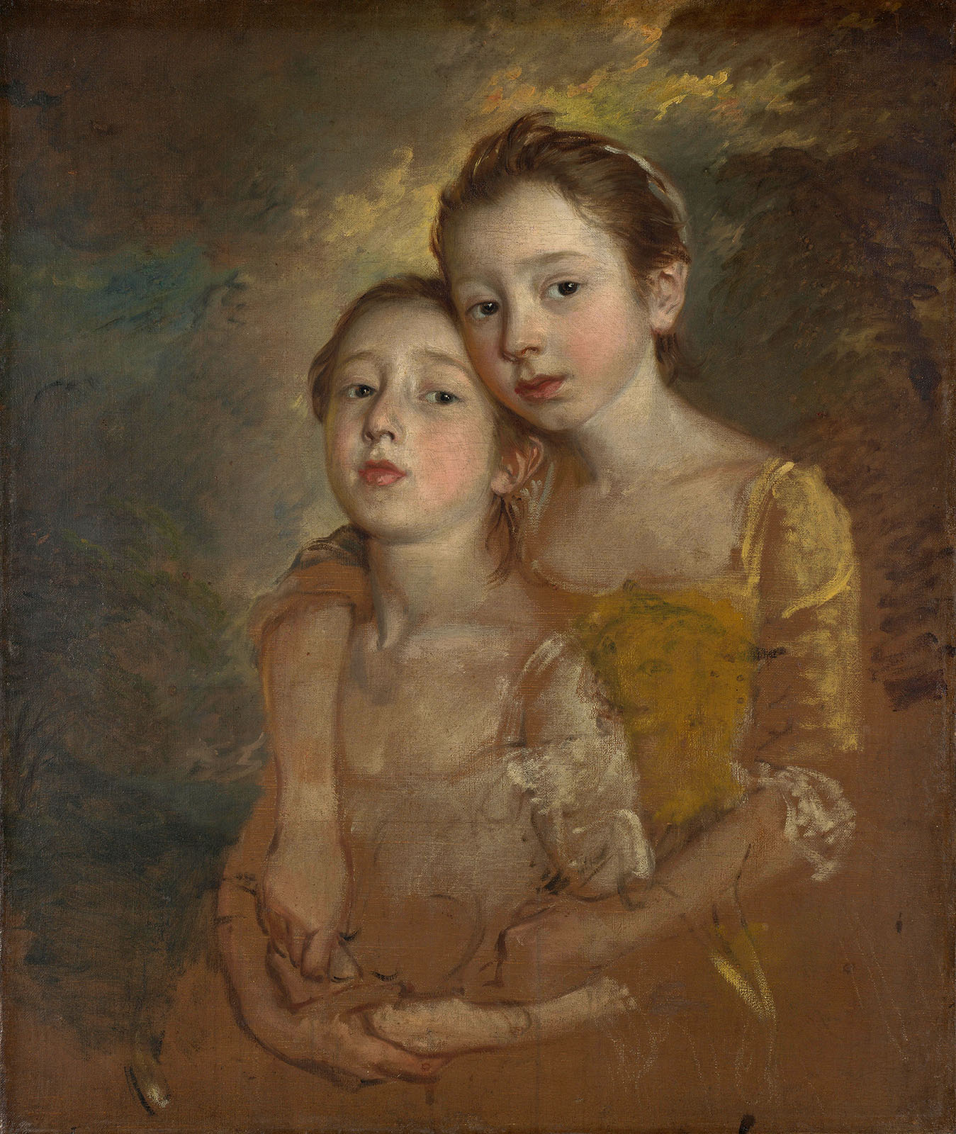 Thomas Gainsborough. Las hijas del pintor con un gato. 1760-1761. National Gallery. Londres.