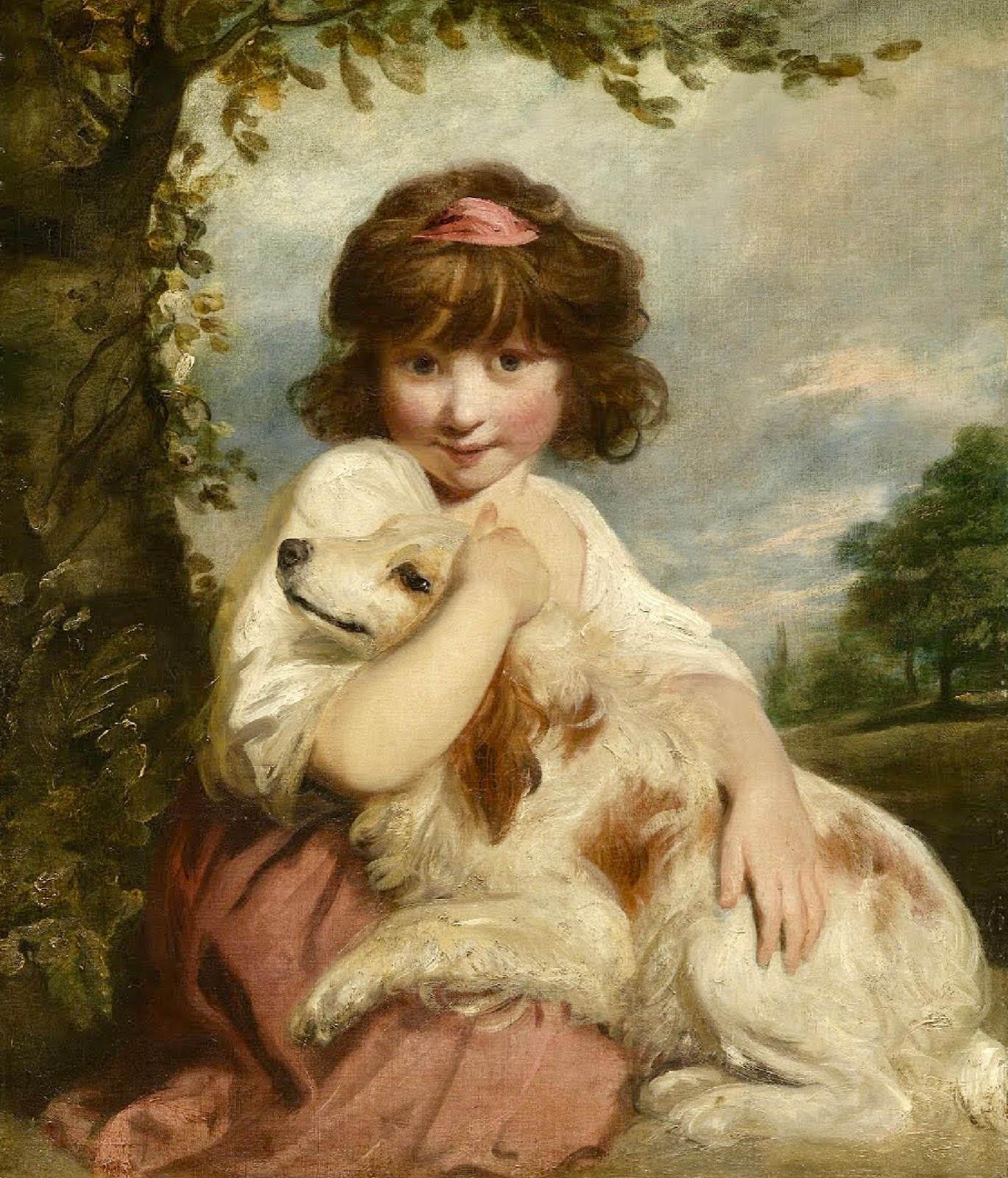 Sir Joshua Reynolds. Una jovencita y su perro. 1780. Tokyo Fuji Art Museum.