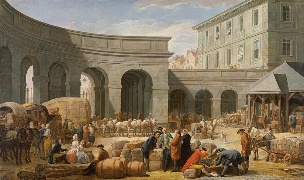 Nicolas-Bernard Lépicié. El Patio de la Aduana. 1775. Museo Nacional Thyssen-Bornemisza.