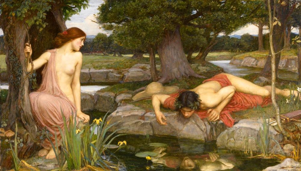 John William Waterhouse. Eco y Narciso. 1903. Walker Art Gallery. Liverpool.