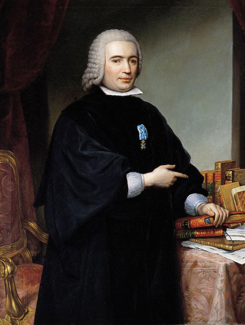 Francisco Bayeu y Subías. Pedro Rodríguez Campomanes, primer conde de Campomanes. 1777. Real Academia de la Historia. Madrid.