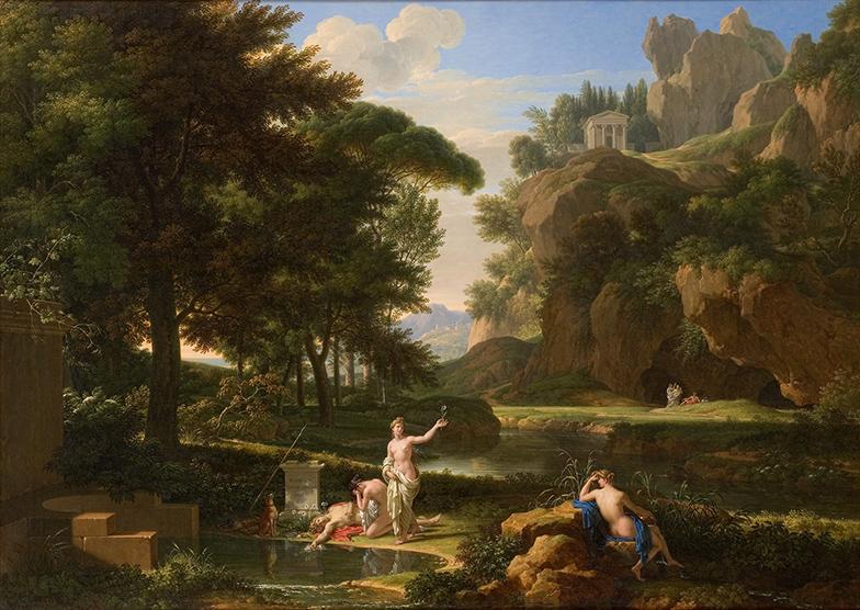 François-Xavier Fabre. La muerte de Narciso. 1814. National Gallery of Australia. Camberra.