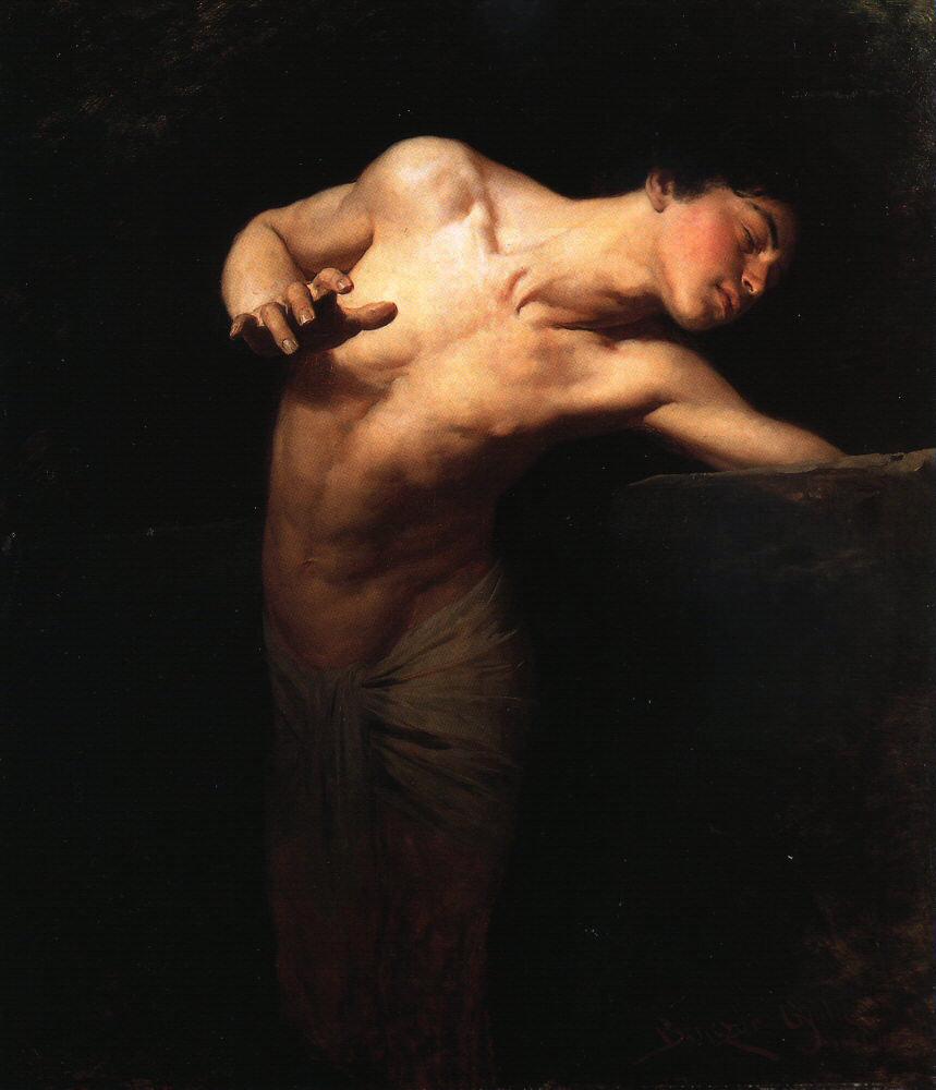 Gyula Benczúr. Narciso. 1881. Hungarian National Gallery. Budapest.
