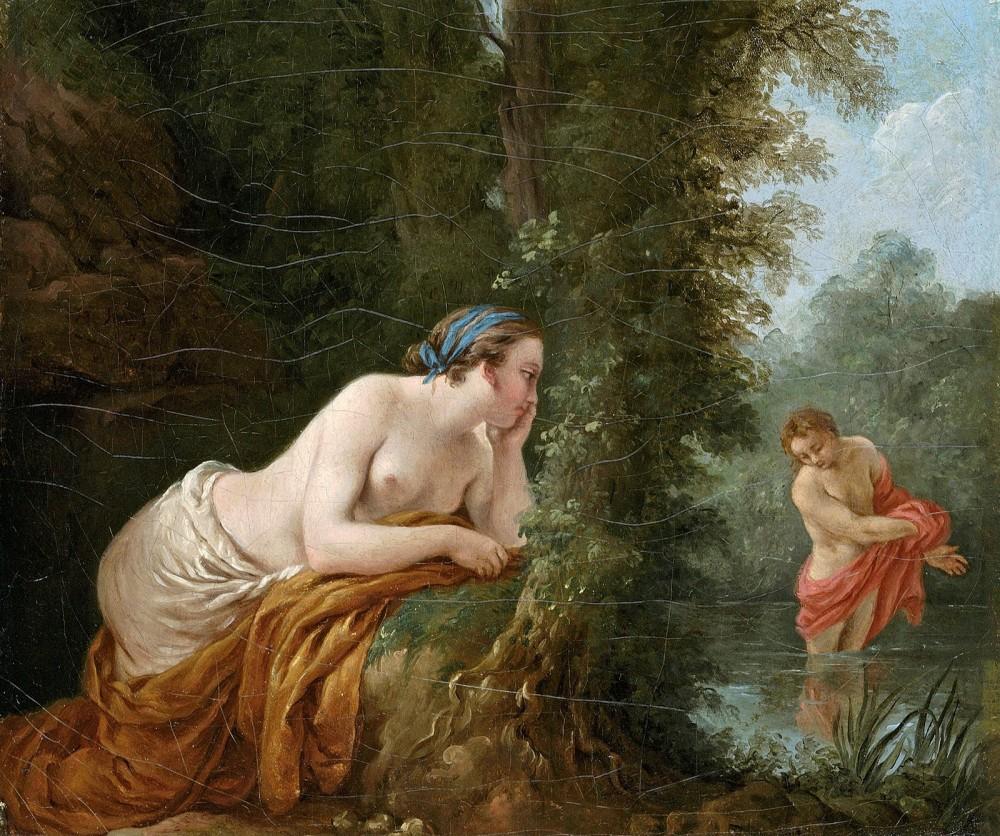 Louis-Jean-François Lagrenée. Eco y Narciso. 1781. Colección particular.