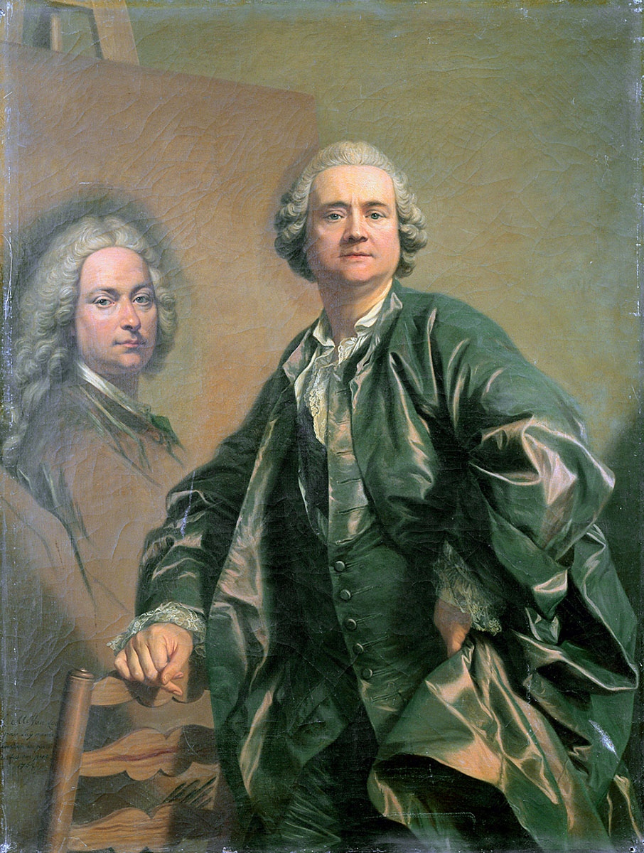 Lous Michel van Loo. Autorretrato. 1762. Palacio de Versalles.