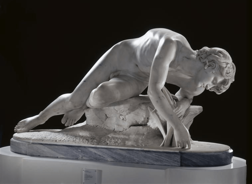 Eugène-Ernest Hiolle. Narciso. 1868. Museo de las Bellas Artes de Valenciennes.