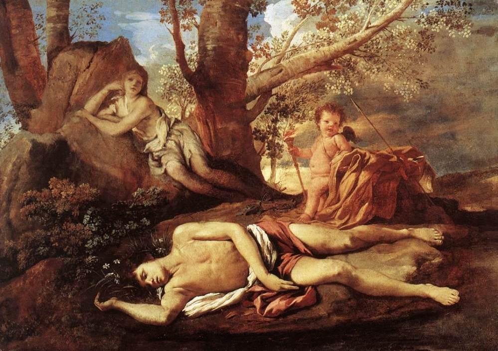 Nicholas Poussin. Eco y Narciso. Hacia 1630. Museo del Louvre. París.